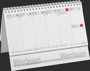 Stehkalender A5 Table Stunden Classic
